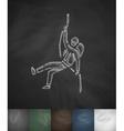 alpinist icon Hand drawn vector image vector image