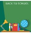 back to school board vector image vector image