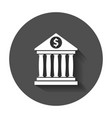 bank building icon in flat style museum with long vector image vector image