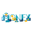 banking with money icons vector image vector image