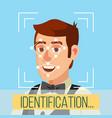 biometric face identification human face vector image
