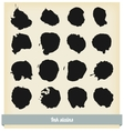 black ink blots vector image