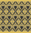 black royal pattern seamless background vector image