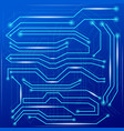 blue abstract background with high tech circuit vector image