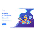 business-to-business sales concept landing page vector image vector image
