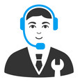 call center boss flat icon vector image
