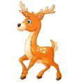 Cartoon style little deer vector image vector image