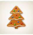 christmas gingerbread fir-tree vector image vector image