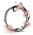 chrysanthemum floral frame vector image vector image
