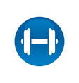 circle with dumbell gym logo icon vector image