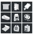 Climate equipment Icons Set vector image
