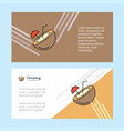 coconut abstract corporate business banner vector image