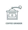 coffee grinder line icon coffee grinder vector image