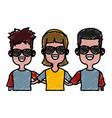 cute kids friends cartoon vector image