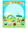 cute multiracial children joyful at school vector image vector image