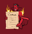 devil offer contract vector image vector image