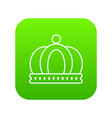 empire crown icon green vector image vector image