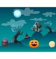 Fantasy landscape Halloween vector image