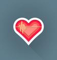flat cardiac medicine symbol icon vector image vector image