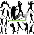 footballplayer vector image vector image