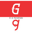 g - letter abstract icon amp hands logo design vector image vector image