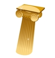 Golden Greek single column in cartoon style vector image vector image