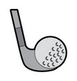 golf club and ball sport recreation vector image vector image