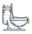 grated ceramic toilet hygiene domestic vector image