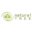 green tree natural logo vector image