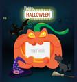 halloween day celebration concept vector image