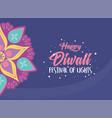 happy diwali festival spiritual tradition hindu vector image vector image