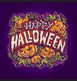 happy halloween jack o lantern background vector image vector image