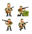 Hunters on isolated background vector image vector image