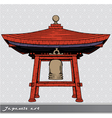 japanese bell shelter vector image vector image