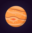 jupiter planet isolated in vector image vector image