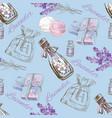 Lavender pattern vector image vector image