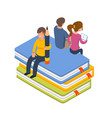 library people isometric vector image