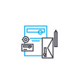 office tools linear icon concept office tools vector image vector image