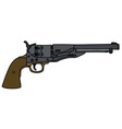 Old Wild West revolver vector image vector image