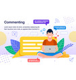 online audience activity poster template vector image vector image