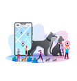 owners use gps control trackers for their pets vector image vector image