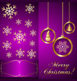 Pink Violet Christmas Invitation Card vector image vector image