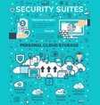 poster for internet online data security vector image vector image