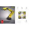 realistic modern industrial concept vector image vector image
