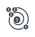 return on investment glyph icon vector image