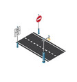 road streetlight traffic vector image