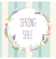 sale banner Circle label with vector image vector image
