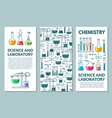 science information cards set vector image