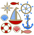 Set nautical design elements
