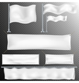 Set of 8 White textile banner and flags EPS 10 vector image vector image